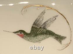 Antique 1892 Haviland & Co Limoges France Plaquette D'oiseaux Peinte À La Main Et Signée