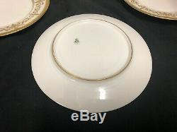 Antique Blanc Et Or Français Assiettes En Porcelaine Peinte À La Main Limoges 6 X 8 1/4