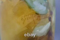 Antique C. 1922 Art Nouveau Hand Painted Artist Signed Roses Gold Vase Rare