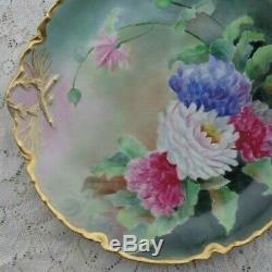 Antique Limoges Haviland Illustrateurs Floral Porcelain Chargeur Lg Hand Painted