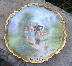 Antique Limoges Main Plaque Peinte Mulville Lrl France