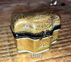 Antique Limoges Parfum En Porcelaine Peinte À La Main Parfum Coffret Cadeau