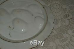 Antique Limoges Turquie Oyster Plate 1800 Peinte À La Main # 1