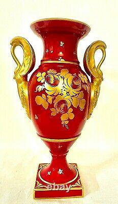 Antique Limoges Vase, Porcelaine, Impire, Painte, Rareh. 39,5 Cm. Livraison Gratuite