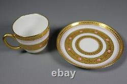 Antique Maine Peintée Porcelaire Français Limoges Coupe De Thée Et De Souure Gold Incroduted