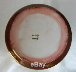 Antiquité D & C Delinieres Porcelaine De Limoges De Chine 11,25 Vase Peint À La Main Coquelicots
