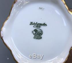 Antiquité Hutschenreuther Selb Limoges Pot À Chocolat En Porcelaine Peinte À La Main