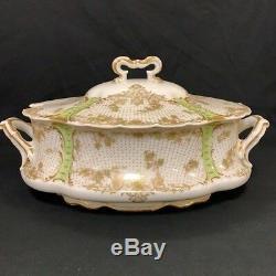 Antiquité Limoges Haviland & Co. France Peinte À La Main Chine Vers 1860 65 Pièces