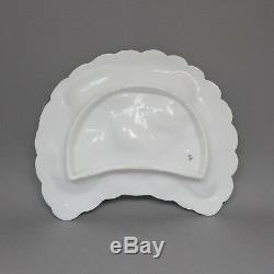 Assiette À Huîtres En Porcelaine Peinte À La Main De Style Victorien Antique