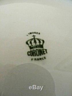 Assiette Chargeur Artiste Peint À La Main Artiste Signé Coronet Limoges