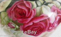 Bawo Et Dotter Limoges Roses Peintes À La Main Jardinière Vers 1900