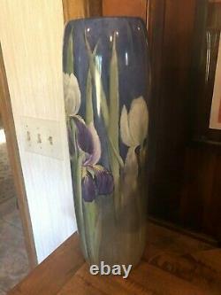 Belle Antique Wg - Co Limoges Grand Vase Peint À La Main