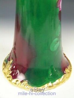 Belle Belleek Artiste E. Challinor Roses Hand Painted Hautes 16 Vase