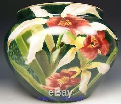 Belle Jardinière Orchidée Cattleya Peinte À La Main De Limoges France