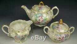 Belle Peinte À La Main Roses Sauvages Tea Pot Creamer Sucre Set Illustrateurs Snyder