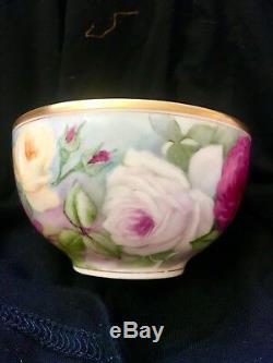 Belle Tasse À Thé Et Soucoupe Roses Limiland Haviland
