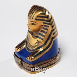Boîte À Bibelots Limoges France Peinte À La Main Avec Sphinx Égyptien, Chanille