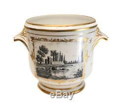 Cache Pot En Porcelaine Peinte À La Main De Limoges France, Vers 1920