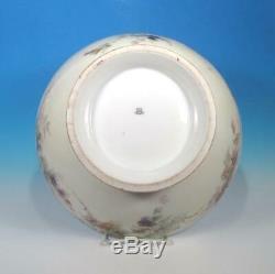Cfh / Gdm Chas Haviland Porcelaine Artiste Peinte À La Main 13+ Victorienne Punch Bowl