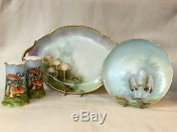 Champignon! Peintes À La Main Porcelaine Collection Lovely De Limoges, Mz Autriche