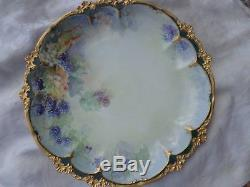 Chargeur Assiette En Porcelaine De Lilas De Gda Flora Limoges France Antique 13