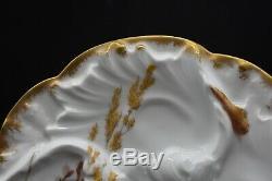 Chas Field Haviland Limoges Moule À Vagues Peint À La Main Sea Life Ocean Oyster Plate D