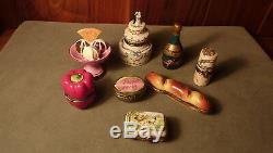 Coffret Oeuf Au Poulet Vintage Signé / Numéroté Et Peint À La Main En Porcelaine De Limoges