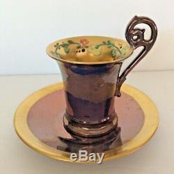 Dutch Aux Enchères (z440) Belle Et Unique 1927 Peint À La Main T & V Set Chocolat