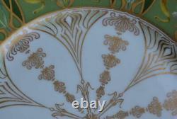 E. Adam Theodore Haviland Limoges Quatre Orchidées D'art Nouveau Peintes À La Main