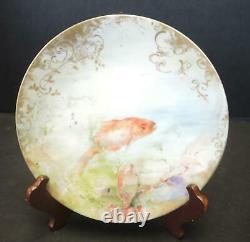 Elégante Porcelaine Antique 1890s Peint À La Main Limoges Seven Piece Set