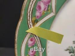 Ensemble De 4 Collection H & C Limoges Plaques 9-3 / 8 Festonné Peint À La Main Doré Floral