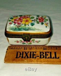 Erotique Rare Limoges Box Trinket Peint À La Main Vintage Porno