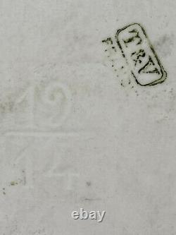 Exquis Antique Peint À La Main T&v France Limoges Plaque De Porcelaine Cadre Personnalisé