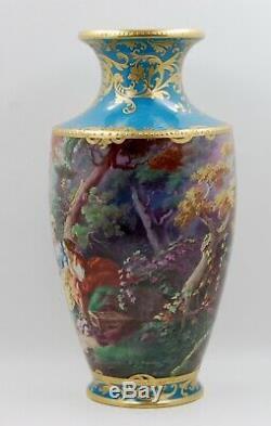 Exquis Limoges France Paris Peint À La Main D'or Incrustées & Bijoux Vase Wow