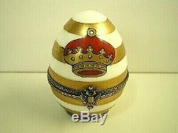 Faberge Limoges Imperial Crown 0003 (noël Noël Vacances) Hand Painted Egg