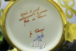 Fabergé Limoges Swan Édition Egg Limitée No. 56 Peint À La Main Grande Condition
