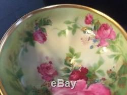 Haviland Limoges Punch Cup Rose Hand Painted Roses & Or Illustrateurs Henry