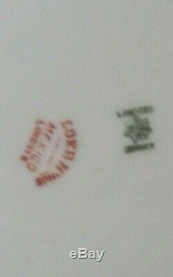 Jeu De Peint Poisson 4 Antique Limoges Main 9 Signe Or Rim Belle Plaques