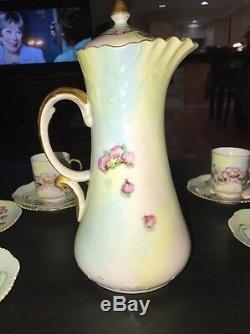 Jpl Jean Pouyat Limoges Chocolat Coffee Pot Set 1907 Peint Par Al Klinkhamer
