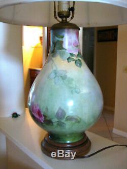 Lampe Limoges Roses Peintes À La Main __gvirt_np_nn_nnps<__
