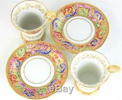 Le Tallec Paris Decores Porcelaine Coupes Café Et Sausers, Set Of 2