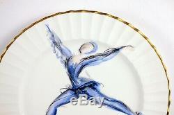 Le Tallec, Paris, France, Signée Assiette En Porcelaine Vintage, Ballerine Peinte À La Main