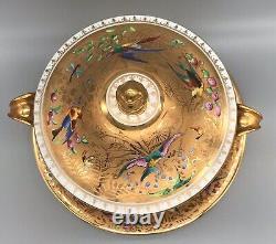 Le Tallec Paris Handpainted Porcelaine Manipulée Couverte Tureen - Chargeur