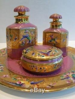 Le Tallec Paris Limoges France Porcelaine Peinte À La Main Dresser Vanity Set