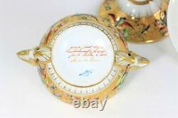 Le Tallec Paris Peinture À La Main Porcelaine Manipulée Couverte Tureen & Charger