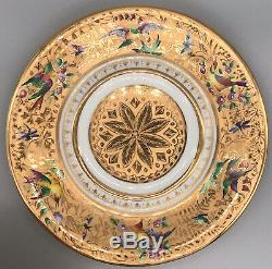 Le Tallec Paris Porcelaine Peinte À La Main Handled Couvert Soupière & Chargeur