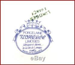 Limoge Made In France Fleurs Peint À La Main Détails Cendrier Plaque