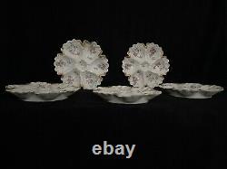 Limoges Antique 5 Plaques D'huîtres Peintes À La Main Guerin 1900 Gold France