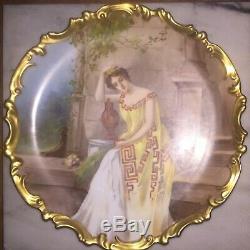 Limoges Antique Assiette En Porcelaine Peinte À La Main Plaque Chargeur Signé Dubois Lovely