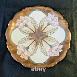 Limoges Antique Peint À La Main Art Nouveau Plate Elite Works